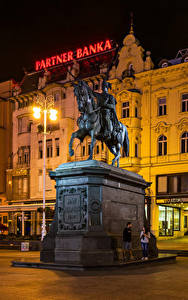Bilder Zagreb Kroatien Gebäude Denkmal Straßenlaterne