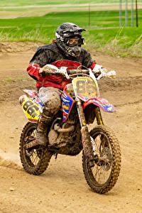 Bilder Motocross Motorradfahrer Uniform Schlamm Motorrad