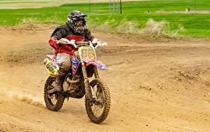 Picture Motocross Motorcyclist Uniform Mud Motorcycles