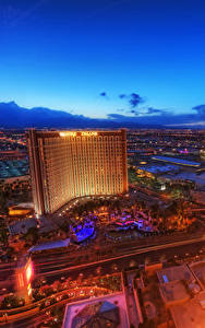 Bilder Vereinigte Staaten Haus Nacht Las Vegas Von oben Nevada Städte