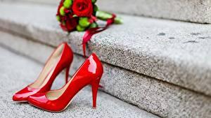 Hintergrundbilder Hautnah Stöckelschuh Rot Treppe