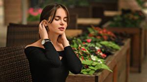 Hintergrundbilder Unscharfer Hintergrund Hand Model Braunhaarige Hanna, Dmitry Medved