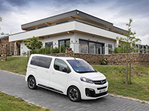 Hintergrundbilder Opel Ein Van Weiß 2019 Zafira Life Small