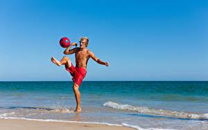 Wallpaper Coast Men Ball Workout Legs sports