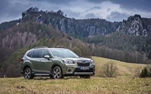 Hintergrundbilder Berg Subaru Metallisch Softroader Forester, 2019