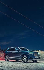 Fotos Rolls-Royce Blau 2018-19 Cullinan automobil
