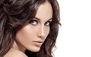 Hintergrundbilder Gesicht Model Haar Braune Haare Schön Starren Mädchens
