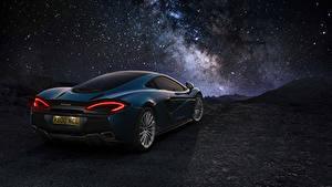 Photo McLaren Blue Back view 2016 570GT Cars