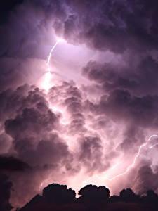 Fotos Himmel Wolke Nacht Blitz Natur