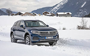 Image Volkswagen Blue Metallic 2018-19 Touareg V6 TDI Worldwide automobile