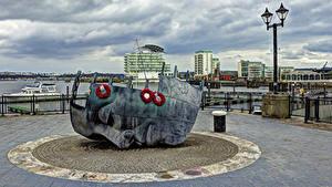 Fotos Vereinigtes Königreich Gebäude Denkmal Straßenlaterne Cardiff