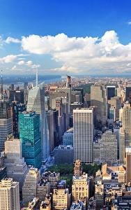 Hintergrundbilder USA Haus Megalopolis New York City Manhattan Von oben Städte