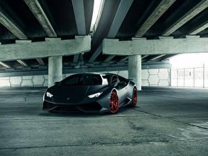 Fotos Lamborghini Schwarz Huracan Matte LP610-4 Vellano