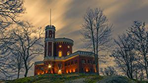 Bilder Schweden Stockholm Burg Abend Bäume Kastellholmen