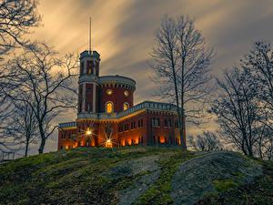 Bilder Schweden Stockholm Burg Abend Bäume Kastellholmen Städte