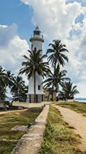 Hintergrundbilder Tropen Sri Lanka Leuchtturm Küste Palmengewächse Wolke Galle Natur