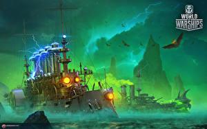 Hintergrundbilder World Of Warship Schiffe Russische Cruiser 'Igor' Spiele Heer