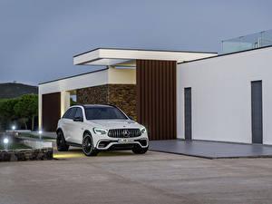 Hintergrundbilder Mercedes-Benz Weiß Metallisch 2019 AMG GLC 63 S 4MATIC Worldwide Autos
