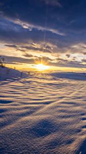Bilder Landschaftsfotografie Winter Sonnenaufgänge und Sonnenuntergänge Himmel Schnee Wolke