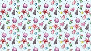 Papéis de parede Textura Ano-Novo Árvore de Natal Presentes