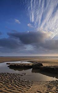 Hintergrundbilder Vereinigtes Königreich Küste Stein Himmel Wolke Sand Pfütze Wales Dunraven Bay Natur