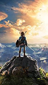 Hintergrundbilder The Legend of Zelda Gebirge Krieger Landschaftsfotografie Wolke Breath of the Wild Spiele Fantasy