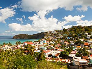 Hintergrundbilder Haus Küste Kanarische Inseln Wolke Saint Lucia Städte