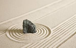 Fotos Steine Sand Kreis zen