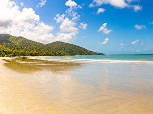 Fotos Australien Küste Wasserwelle Hügel