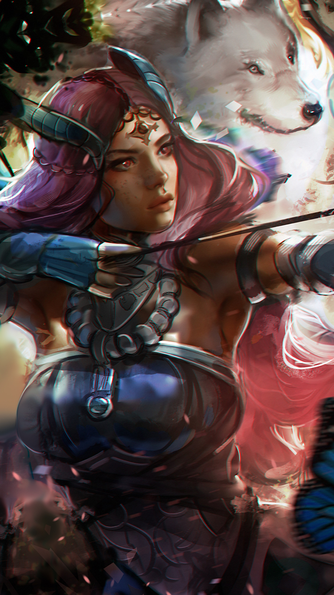Pictures Guild Wars 2 Archers Warriors Fantasy young woman