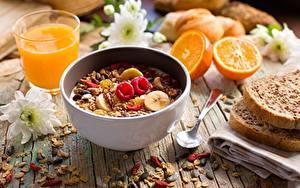 Bilder Müsli Frühstück Löffel Lebensmittel