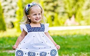 Fonds d'écran Petites filles Les robes Sourire Enfants