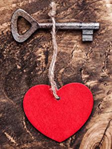 Bilder Valentinstag Bretter Herz Schlüssel