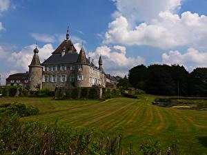Hintergrundbilder Belgien Burg Rasen Hodoumont Castle Städte