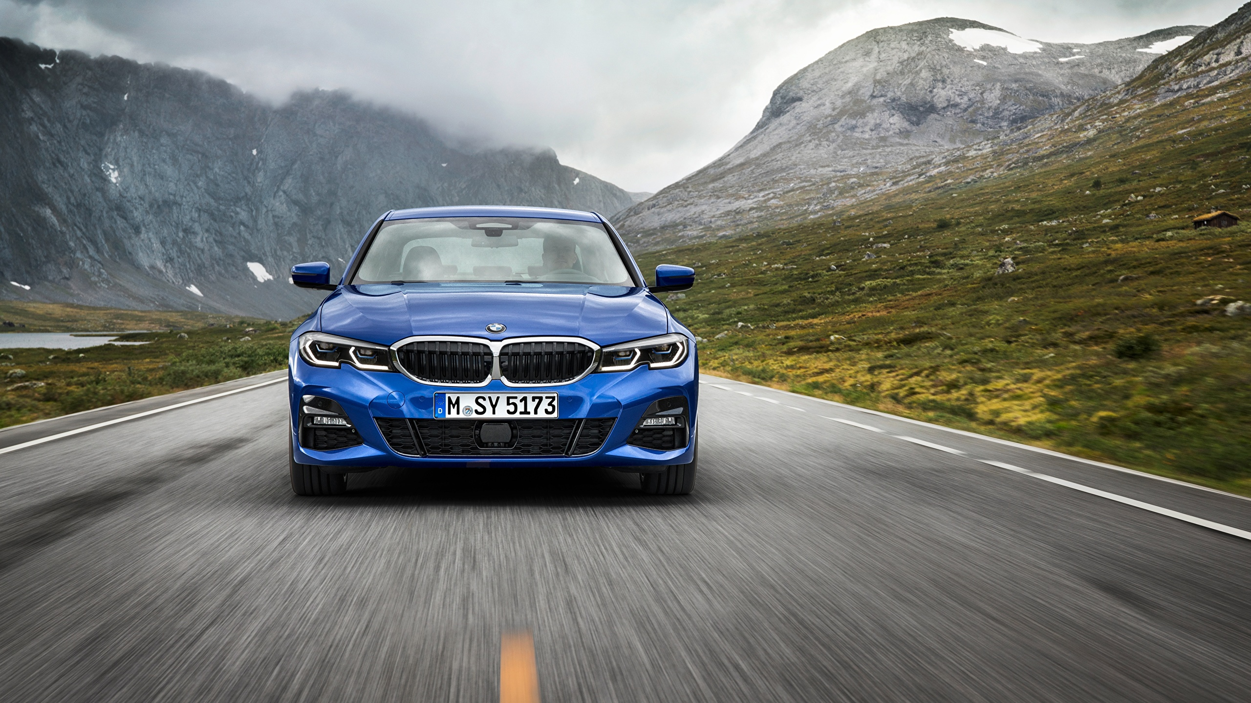 Photos Bmw 3 Series M Sport G20 Blue Riding Auto Front 2560x1440