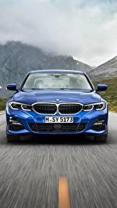 Bilder BMW Vorne Blau Bewegung 3-series M Sport G20 Autos