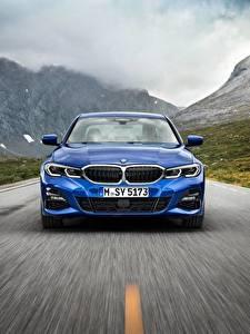 Bilder BMW Vorne Blau Fahrendes 3-series M Sport G20 auto