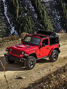 Hintergrundbilder Jeep Rot 2018-19 Wrangler Rubicon Autos