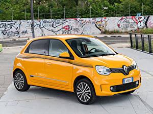 Hintergrundbilder Renault Gelb Metallisch 2019 Twingo Worldwide Autos