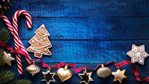 Hintergrundbilder Neujahr Süßware Kekse Bretter Design Band Schneeflocken