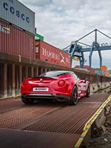 Fotos Alfa Romeo Rot Hinten 4C auto