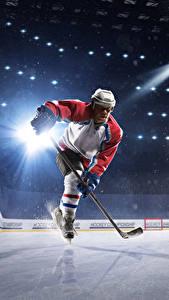 Hintergrundbilder Hockey Mann Eis Uniform Helm Lichtstrahl Kunsteisbahn Sport