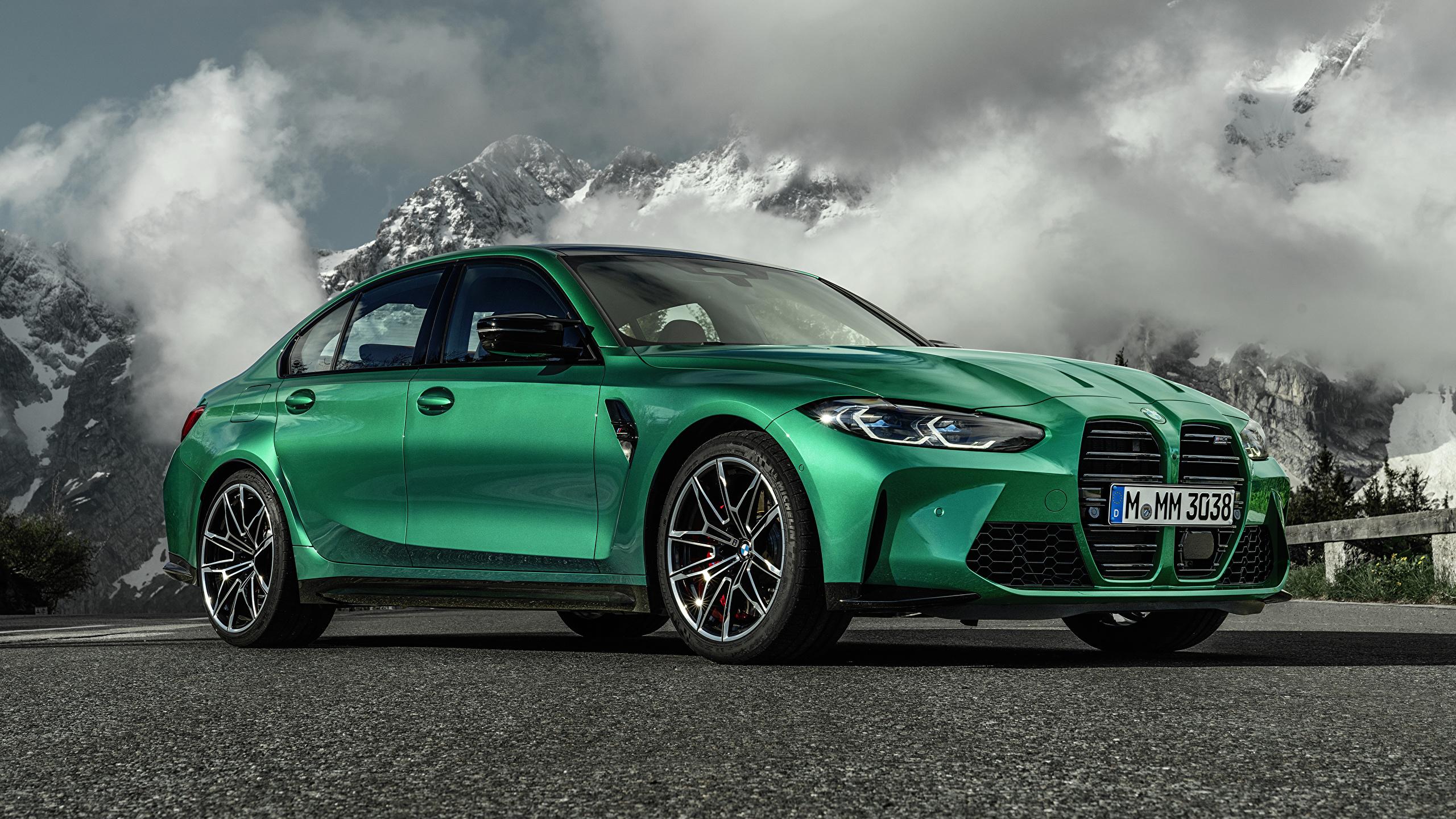 Papeis De Parede 2560x1440 Bmw M3 Competition G80 2020 Verde Metalico Carros Baixar Imagens