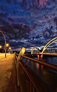Hintergrundbilder Frankreich Straßburg Flusse Brücke Abend Zaun  Städte