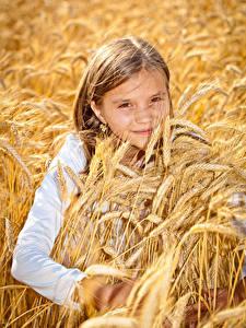 Hintergrundbilder Kleine Mädchen Ähre Blick