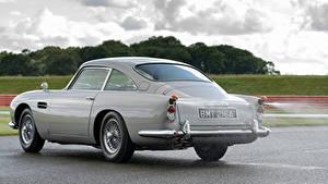 Fondos de escritorio Aston Martin Gris Metálico Asfalto DB5 Goldfinger Continuation, 2020 autos