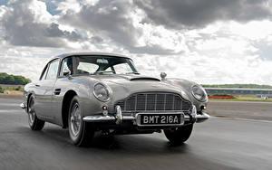 Tapety na pulpit Aston Martin Droga Ruchu Szary Metaliczna DB5 Goldfinger Continuation, 2020 Samochody