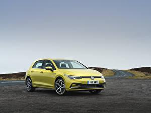 Bilder Volkswagen Gelb 2020 Golf Style Autos