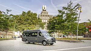 Wallpapers Mercedes-Benz Bus Grey 2019 Sprinter Transfer Cars