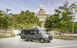 Tapety na pulpit Mercedes-Benz Autobus Szary 2019 Sprinter Transfer Samochody